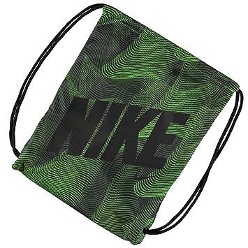4eff93ad6e39 Mens Ladies Kids Unisex Genuine Nike Graphic Gym Sack Pack Bag Accessories  (Green Black