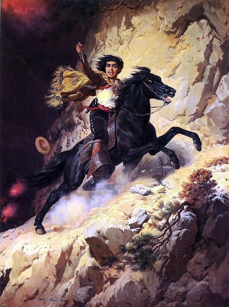 Charles Christian Nahl Joaquin Murieta - 24'' x 32'' 100% Hand Painted Oil Painting Reproduction by Art Oyster