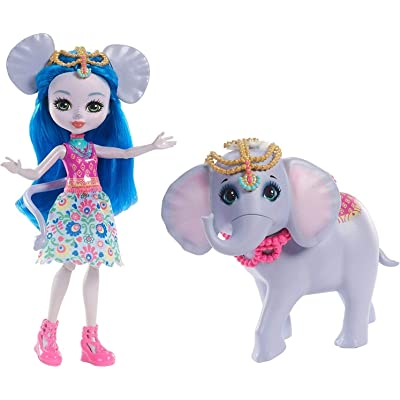 Enchantimals Muñeca Ekaterina elephant con mascota (Mattel FKY73) , color/modelo surtido