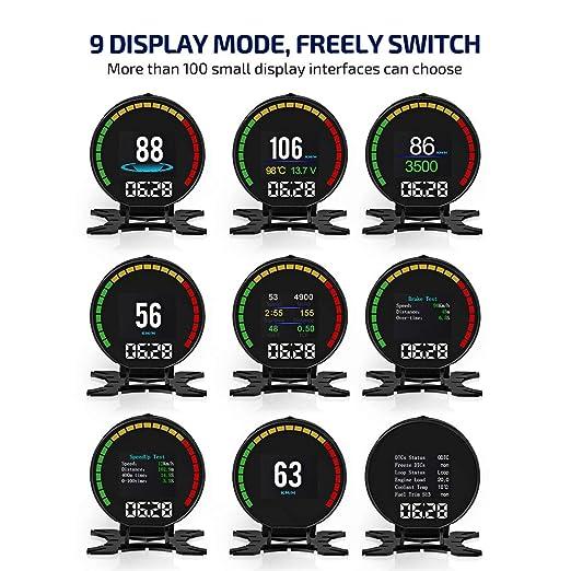 Amazon.com: CACAGOO - Mómetro digital inteligente OBD II de ...