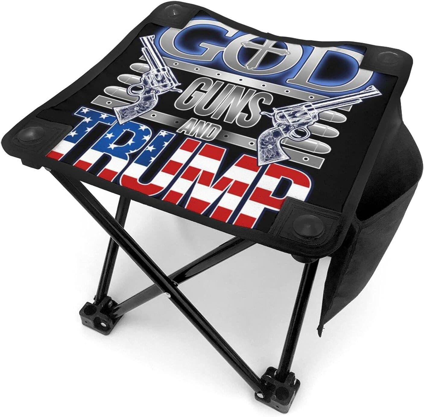God Guns and Trump Slacker Chair for Fishing Outdoor Travelchair