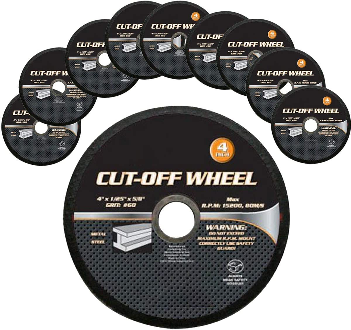 4 Inch Cutting Wheels Grinding Discs Cut-Off Wheel for Metal 20 Pcs