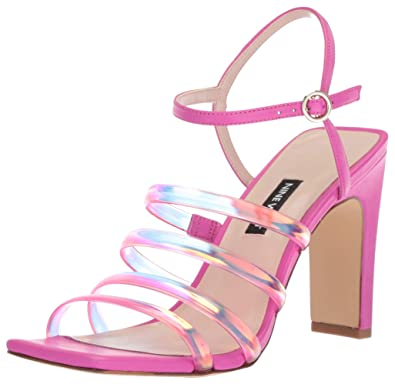 fe55bc665f6 Nine West Women s LAXIAN Synthetic Heeled Sandal Pink 6 ...