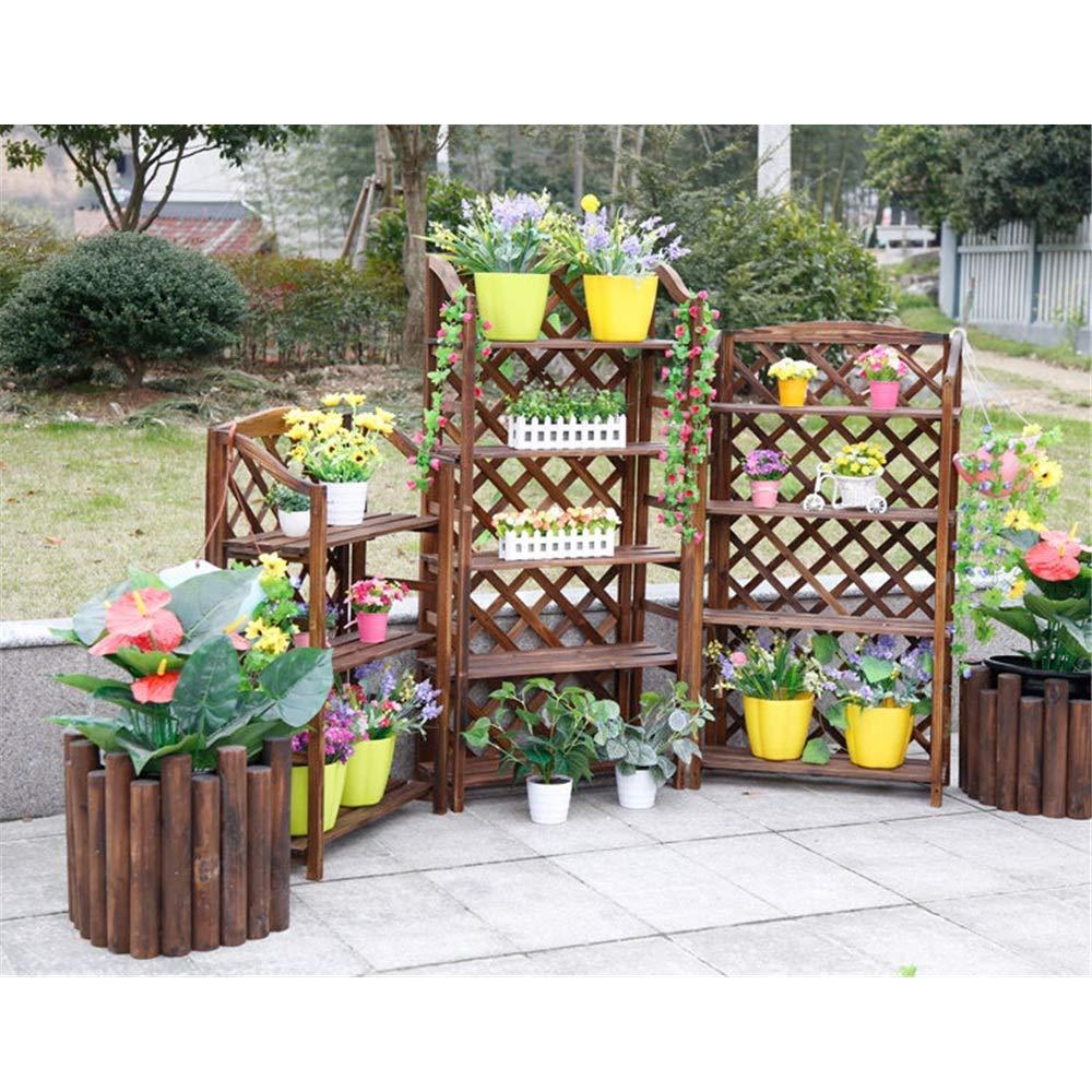 Soporte para Plantas Soporte de flor para madera Estante de ...