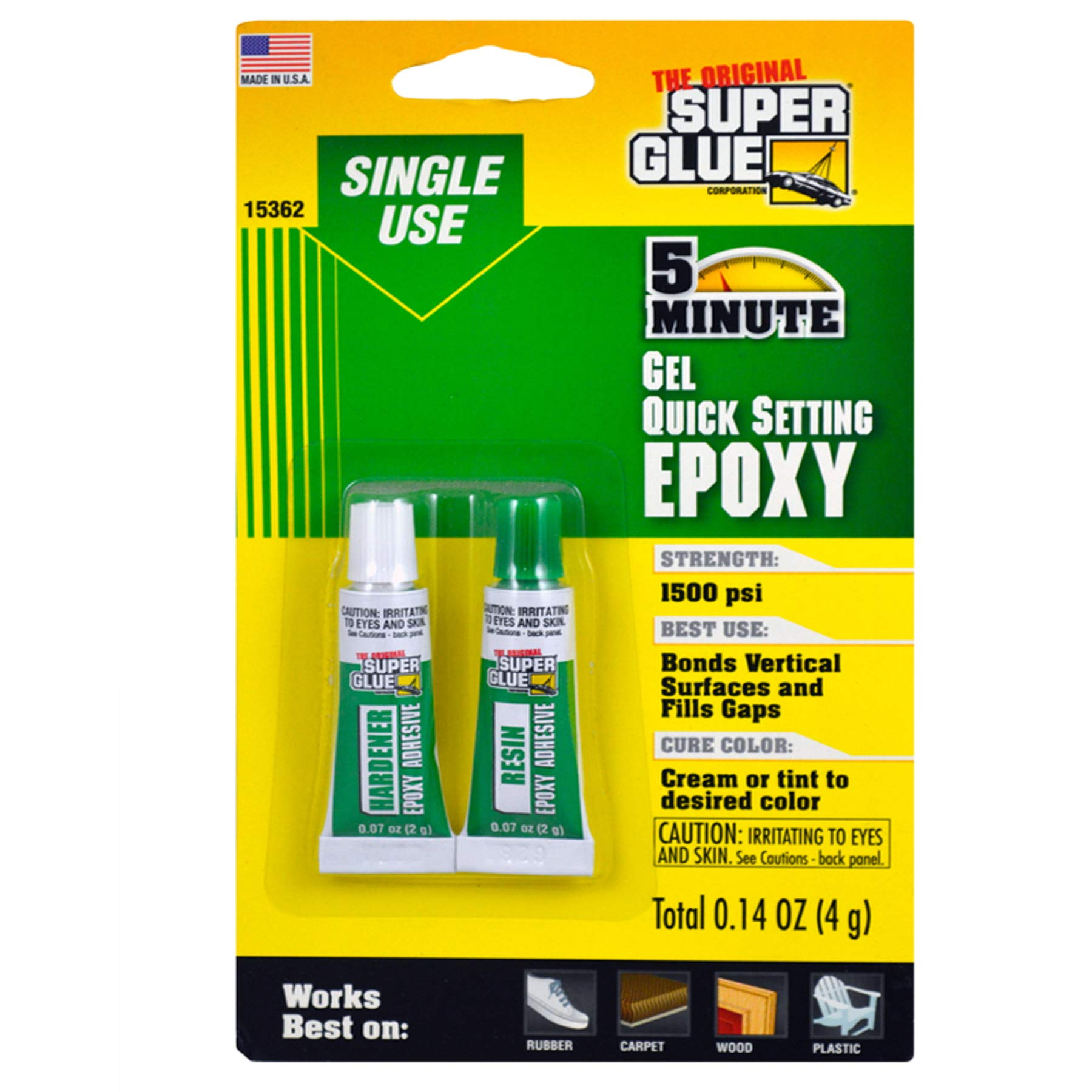 (Pack of 24, 48 Ct) The Original Super Glue Super Glue Quick Setting Epoxy Gel, 2pk by Unknwon (Image #1)