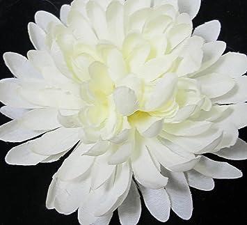 Amazon ivory white chrysanthemum mum hair flower clip beauty ivory white chrysanthemum mum hair flower clip mightylinksfo