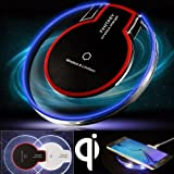 For iPhone X 10 8/8 Plus+ Portable Wireless Charger Power Qi Charging Pad Mat Clear