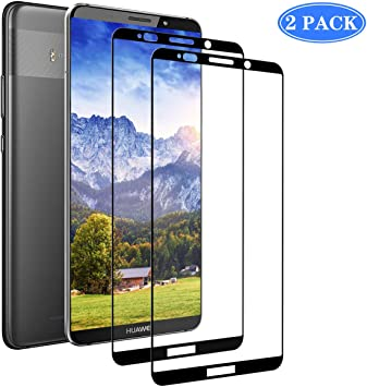 NFYYU Protector de Pantalla Smartphone Compatible para Huawei Mate 10 Pro 3D Ultra HD Vidrio Templado Premium Transparente con Cobertura Completa 2 Pack: Amazon.es: Electrónica