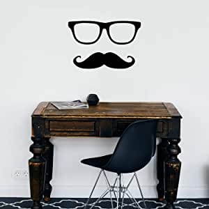 Really Cool Big Vinyl Mustache For Your Car Decal Or Cart 16 In W 3.5 In H