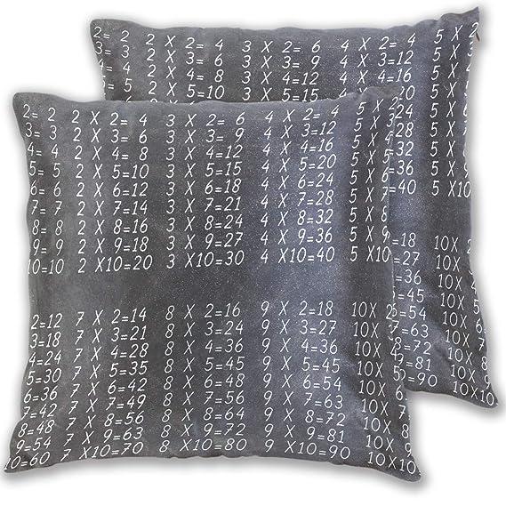 Amazon.com: Jereee Black Multiplication Table Pillow Covers ...