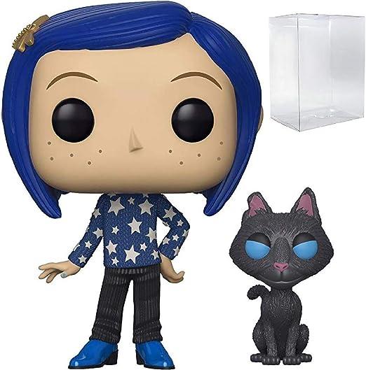 Amazon Com Funko Pop Movies Coraline Coraline With Cat Vinyl Figure Includes Pop Box Protector Case Toys Games