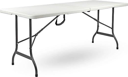 Tavolo Da Giardino Bianco.Brigros Tavolo Pieghevole Da Giardino Bianco Perfetto Come