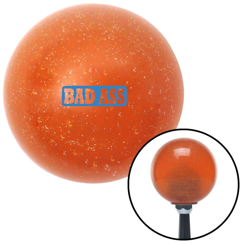 American Shifter 285300 Shift Knob Blue Bad Ass Orange Metal Flake with M16 x 1.5 Insert