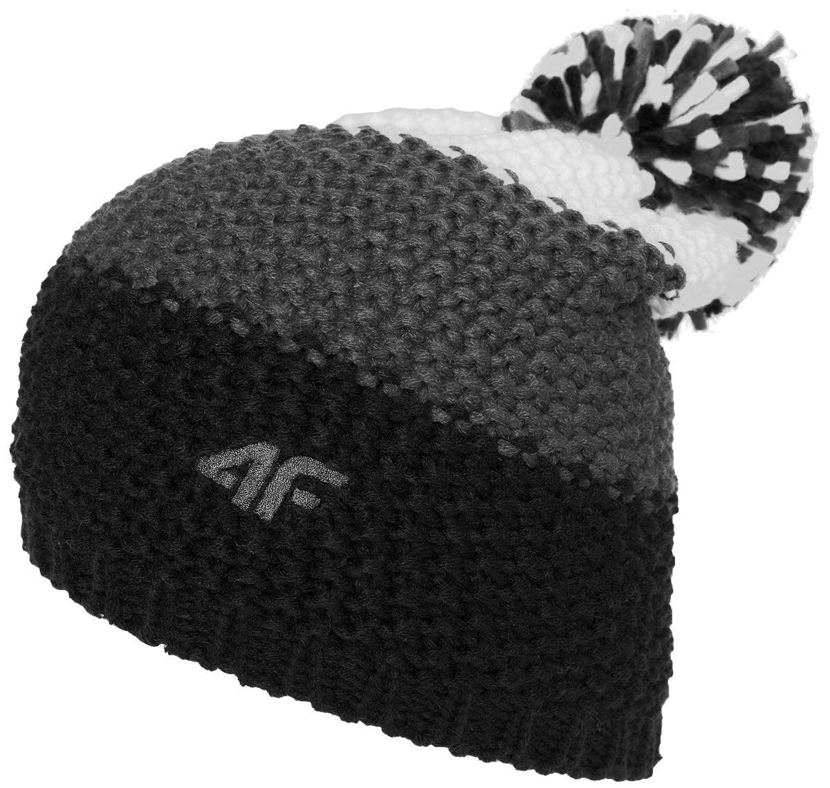 f1026cb5e60 4F CAM011 Men s Knitted Bobble Hat Winter Hat with Bobble and Fleece Inner  Band Ideal for Snowboarding and Skiing