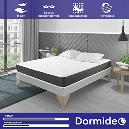 DORMIDEO Visco Basic - Colchón Viscoelástico, Higiénico y Transpirable 150x190