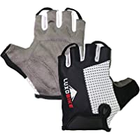 LuxoBike Cycling Gloves Bicycle Gloves Bicycling Gloves Mountain Bike Gloves - Anti Slip Shock Absorbing Padded…