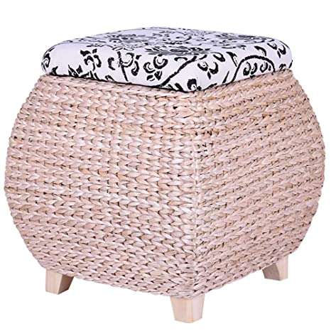 Tremendous Amazon Com Footstool Ottoman Pouffe Shoe Bench Solid Wood Gamerscity Chair Design For Home Gamerscityorg