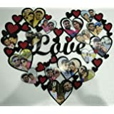Justsurprize Personalised Acrylic Heart Shape Photo Frame for Birthday and Anniversary