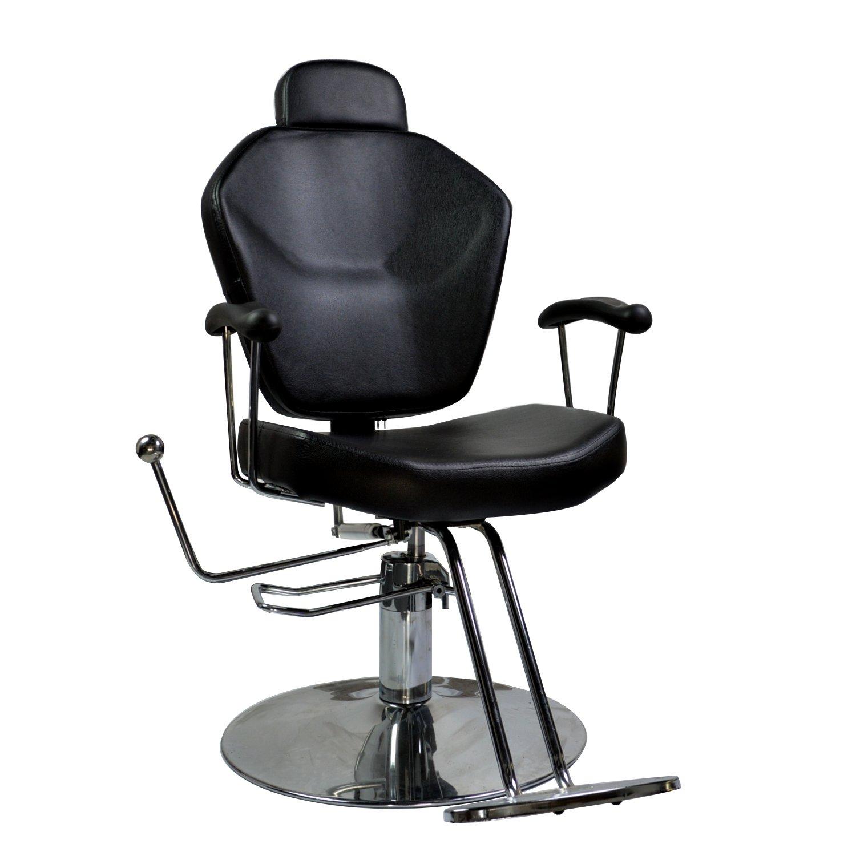 DOIT Barber Chair Beauty Spa Shampoo Hair Styling Reclining Hydraulic Chair Equipment Black