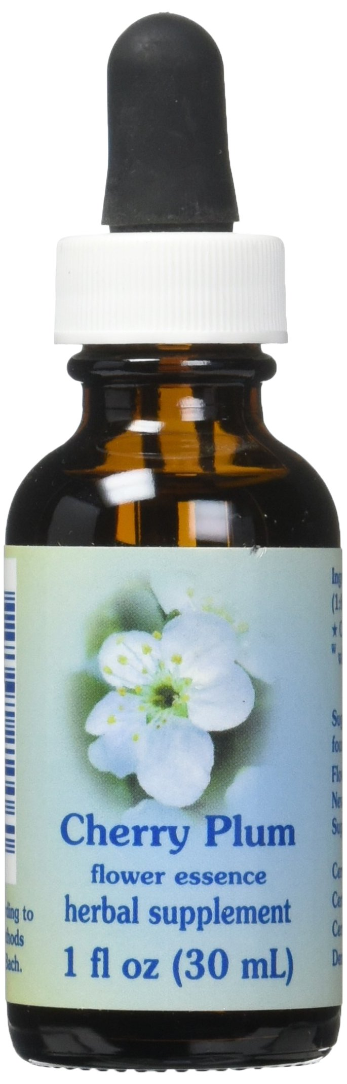 Flower Essence Services Dropper Herbal Supplements, Cherry Plum, 1 Ounce
