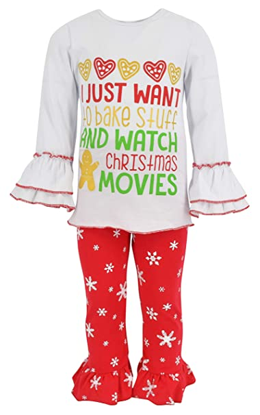 Unique Christmas Cookies.Unique Baby Girls Christmas Cookies 2 Piece Outfit