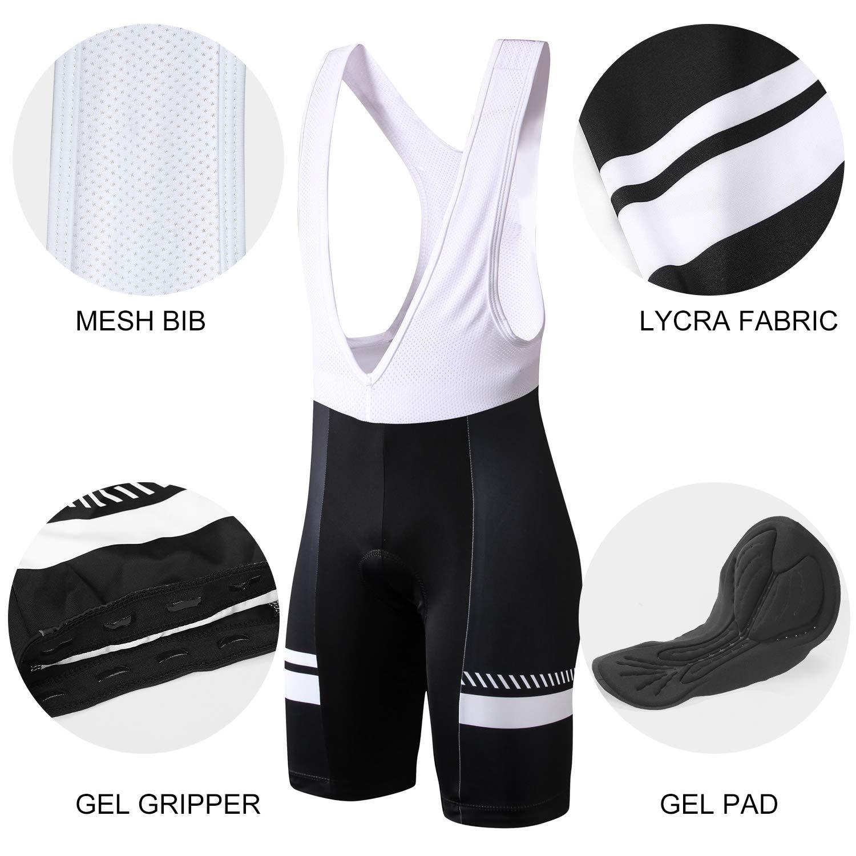 INBIKE Ropa Conjunto Traje Equipacion Ciclismo Hombre Verano con 3D Acolchado De Gel Pantalon//Culote Bicicleta para MTB Ciclista Bici Maillot Ciclismo