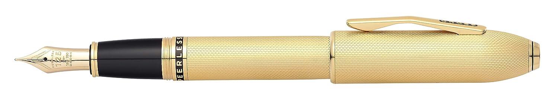 Cross PEERLESS penna stilografica M 23/carati placcato oro, in confezione regalo