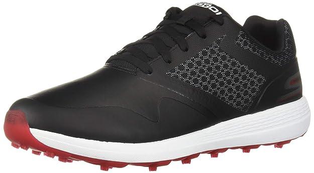 Skechers Men's Max Golf Shoe, Black/red, 7.5 M US