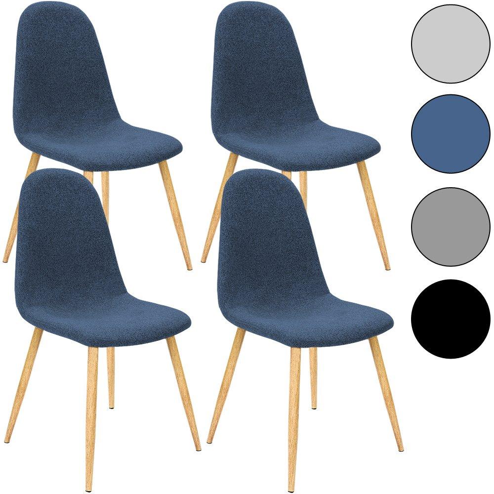 4x Deuba® Design Stuhl Esszimmerstühle Küchenstuhl • 50cm Sitzhöhe ...