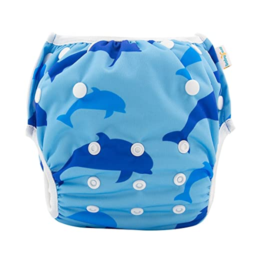 984e646940 babygoal Baby Swim Diaper, One Size Reusable Washable and Adjustable for  Swimming fit 0-