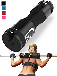 Fit Viva Barbell Pad for Standard and Olympic Barbells with Safety Straps Bonus 30 Day Challenge