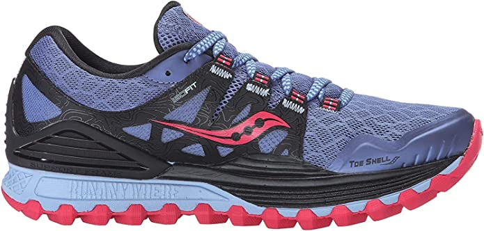 Amazon Com Saucony Women S Xodus Iso Trail Running Shoe Denim Black Pink 5 5 M Us Trail Running