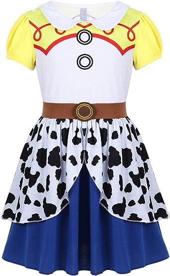 YiZYiF Disfraz Cowgirl Niñas Vestido Vaquera Infantil Cuentos de ...