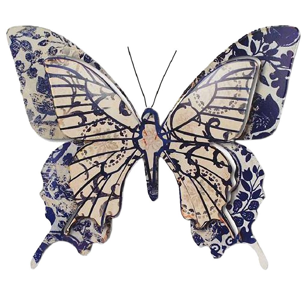 THE WORLD OF ANIMALS Butterfly wall decoration 39 x 33 cm - Blue model