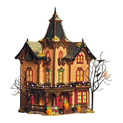 department 56 snow village halloween victorian house