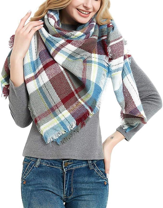 女士格纹保暖围巾,冬日给你温暖和时尚