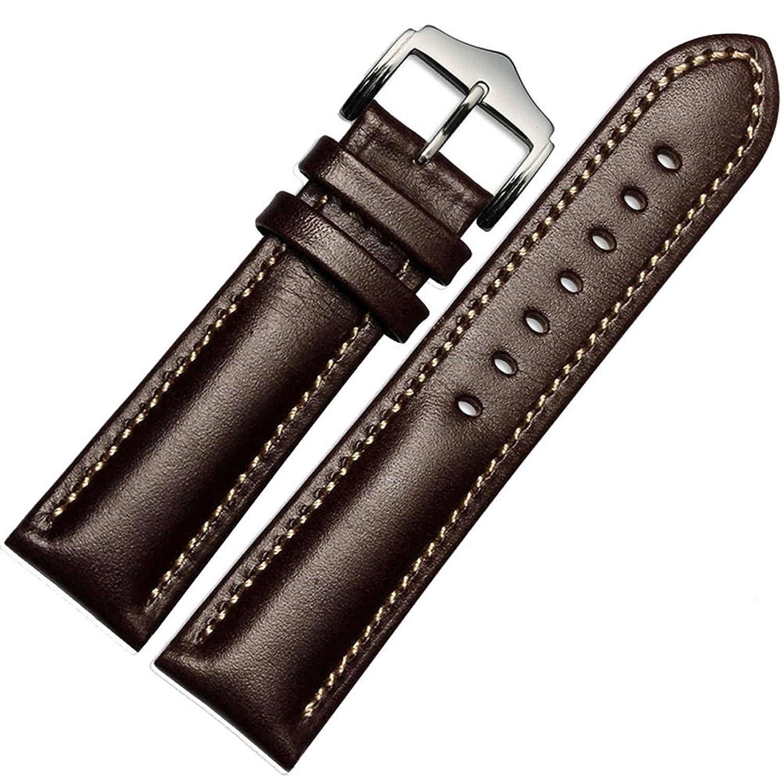 MSTRE np03 18 mm / 20 mm Couple Watch Bandカーフスキンレザー大人ストラップ 18mm ブラウン  ブラウン 18mm B071XHFZ9K