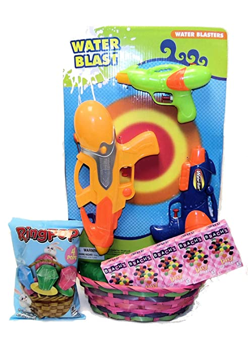 Amazon.com: Easter Basket Water Blaster and Candy Gift Set ...