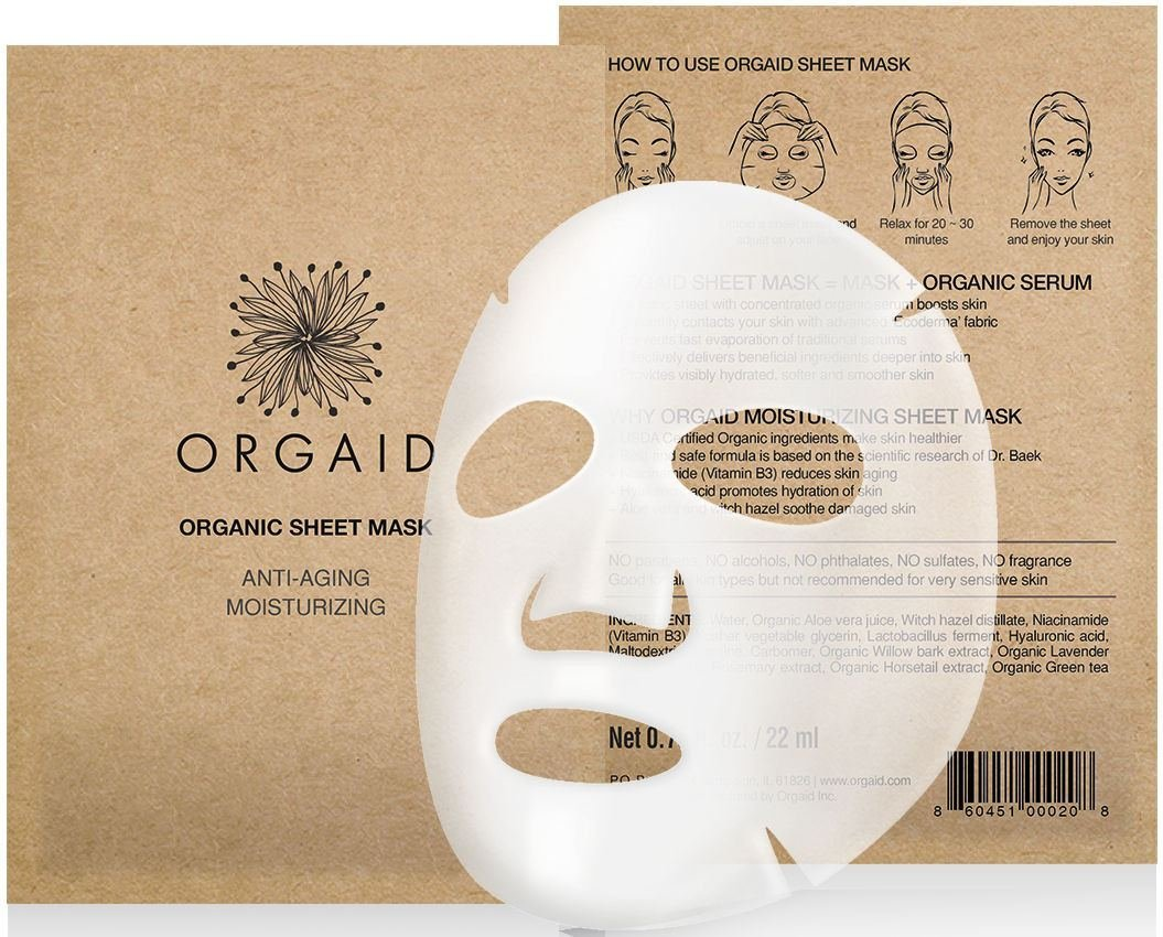 Organic Anti-Aging Moisturizing Sheet Mask ORGAID OSM11