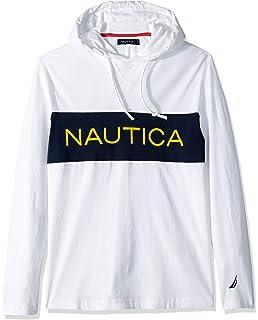 72fc7419c Nautica Men's Long Sleeve Mix Media Full Zip Hoodie at Amazon Men's ...