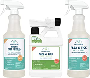 Wondercide Natural Products - Flea Tick Insect Spray Kit for Pets, Dogs, Cats, Home, Patio, Yard, and Garden - Eco-Friendly Pest Control Treatment Bundle - Indoors and Outdoors - 96 oz