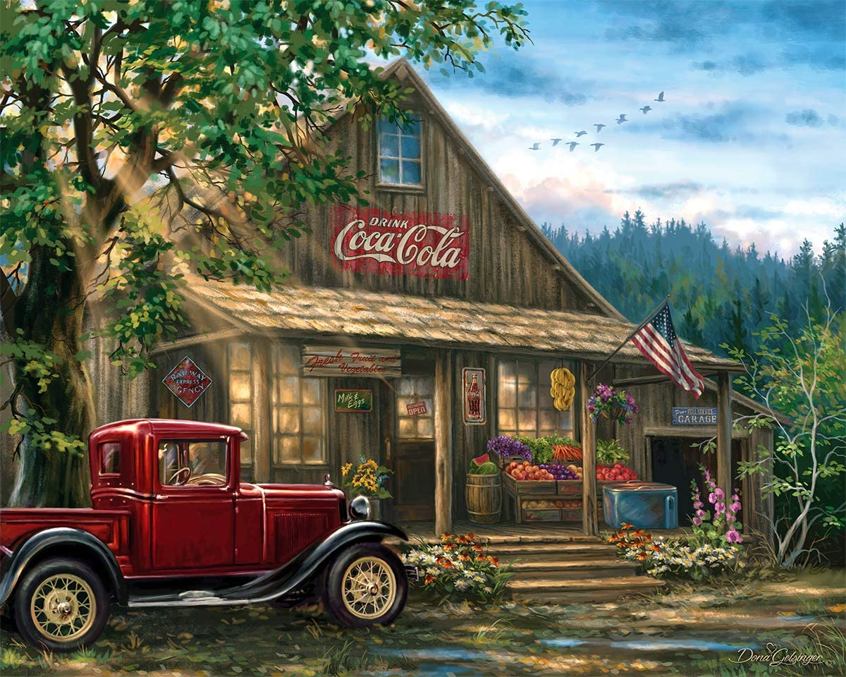 """Springbok Puzzles - Country General Store - 1000 Piece Jigsaw Puzzle - Large 30"""" by 24"""" Puzzle - Made in USA - Unique Cut Interlocking Pieces, Multicolor"""