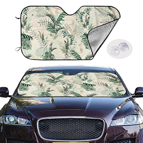 Blue Big Ant Windshield Sunshade for Car Foldable UV Ray Reflector Auto Front Window Sun Shade Visor Shield Cover 55 x 27.5 Keeps Vehicle Cool