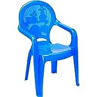 Cadeira Monobloco com Braços Infantil Estampada Catty Tramontina Azul