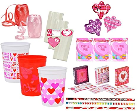 Amazon Com Valentine S Day Pre Filled Favor Cups Perfect For