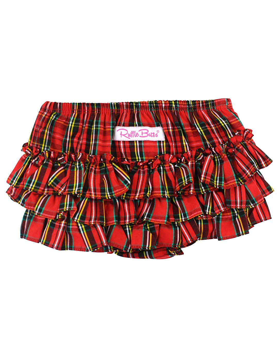 RuffleButts Baby//Toddler Girls Fall Holiday Plaid Bloomer Diaper Cover w//Ruffles RBWPLXX-FALL-SC-BABY