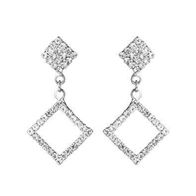 af0ac3621 Buy Shining Jewel Elegant Silver Plated Crystal CZ American Diamond Dangle  Drop Designer Earrings for Women, Girls (SJ_1126) Online at Low Prices in  India ...
