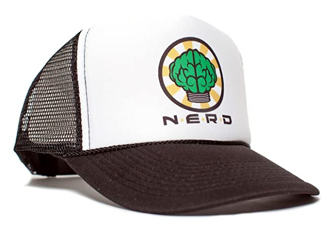 ad2817e2 NERD Unisex-Adult One-size Trucker Hat Black/White at Amazon Men's ...