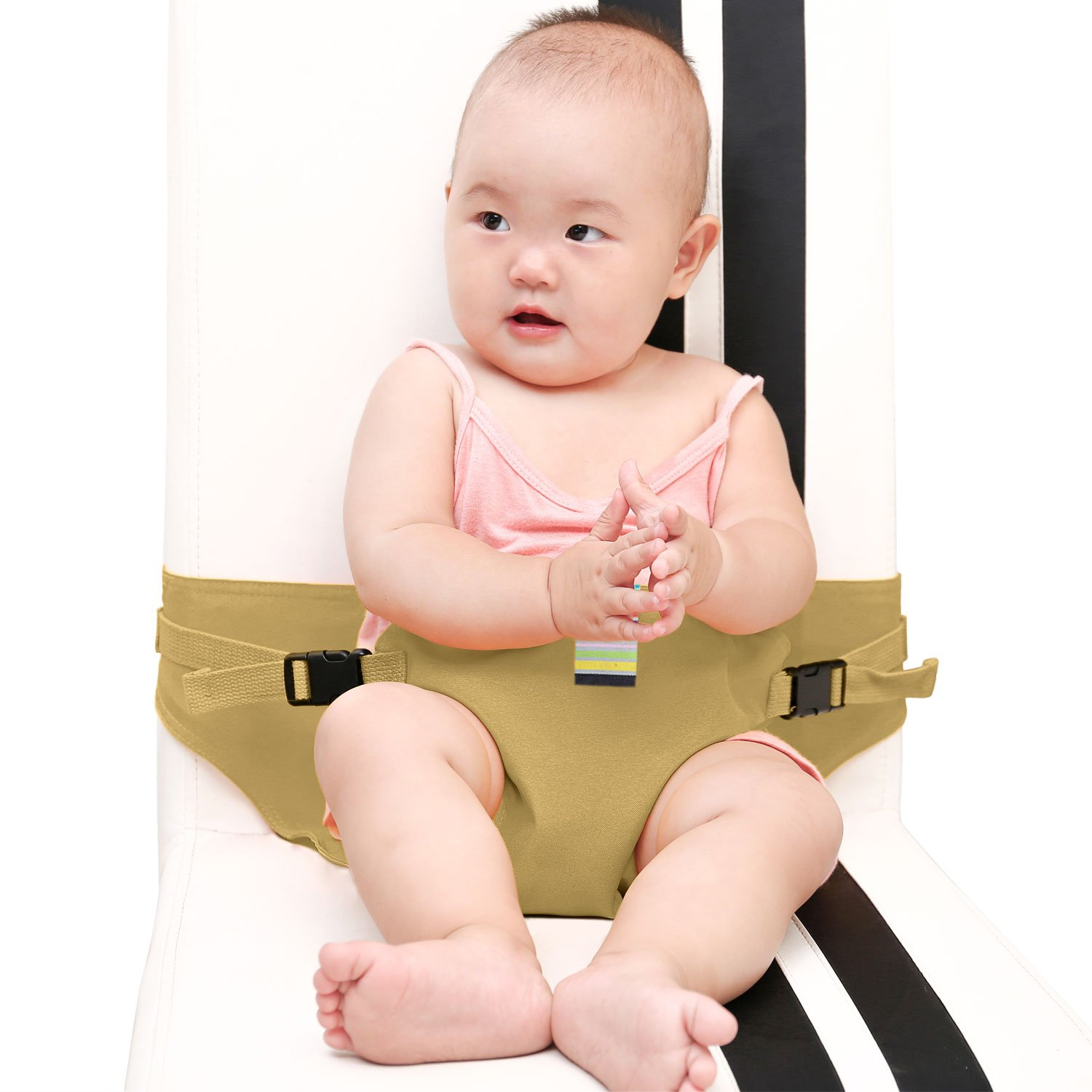 pink KIKIGOAL Portable Washable Baby Travel High Chair Booster Safety Seat Strap Harness Belt for Baby Feeding