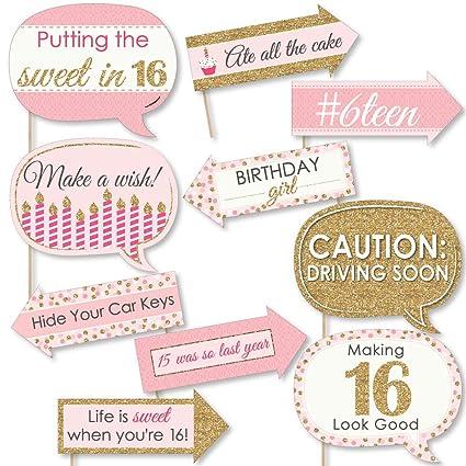Amazoncom Big Dot Of Happiness Funny Sweet 16 16th Birthday